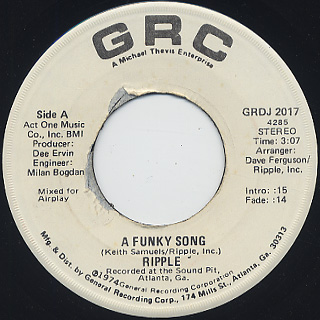 Ripple / A Funky Song (45)