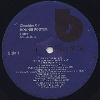 Ronnie Foster / Cheshire Cat label