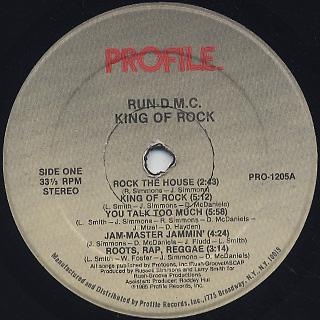 Run D.M.C. / King Of Rock label