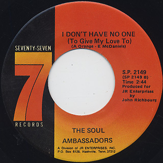 Soul Ambassadors / Something On My Baby's Mind back