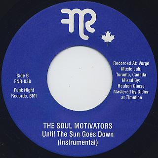 Soul Motivators / Until The Sun Goes Down back