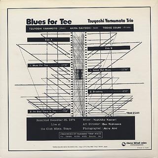 Tsuyoshi Yamamoto Trio / Blues For Tee back