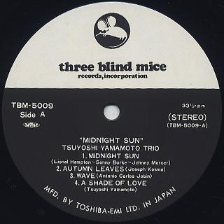 Tsuyoshi Yamamoto Trio / Midnight Sun label