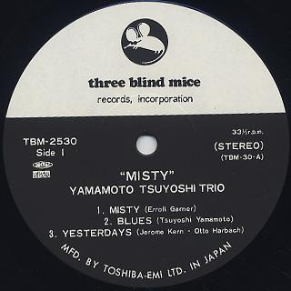 Tsuyoshi Yamamoto Trio / Misty label