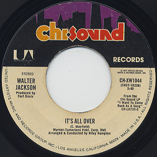 Walter Jackson / It's All Over front