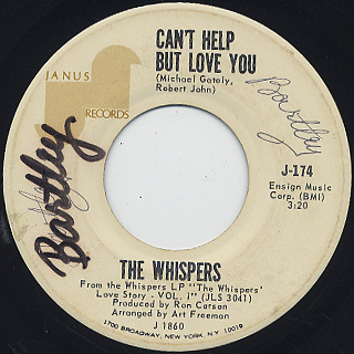 Whispers / Can't Help But Love You