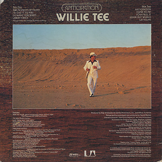 Willie Tee / Anticipation back