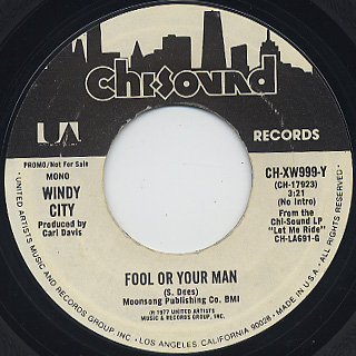 Windy City / Fool Or Your Man back