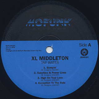 XL Middleton / Tap Water label