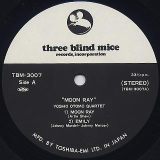 Yoshio Otomo Quartet with Tsuyoshi Yamamoto / Moon Ray label