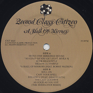 2econd Class Citizen / A Hall Of Mirrors label