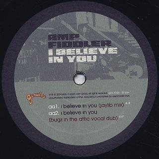 Amp Fiddler / I Believe In You label