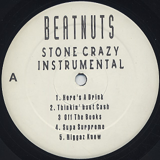 Beatnuts / Stone Crazy Instrumental LP back