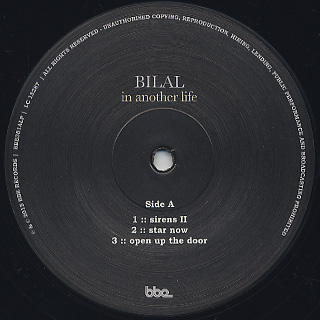 Bilal / In Another Life label