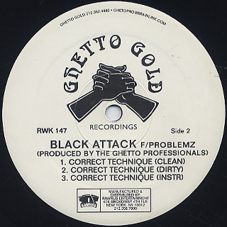 Black Attack / My Crown c/w Correct Technique label