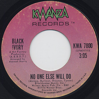Black Ivory / What Goes Around (Come Around) back