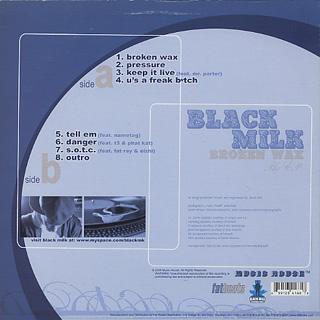 Black Milk / Broken Wax back