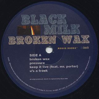 Black Milk / Broken Wax label