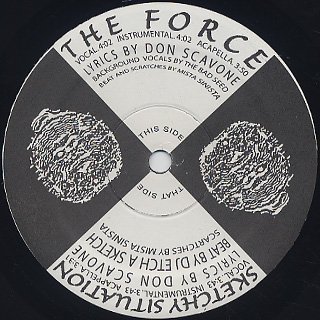 Don Scavone / The Force c/w Sketchy Situation back