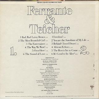 Ferrante & Teicher / ...Beautiful...Beautiful back