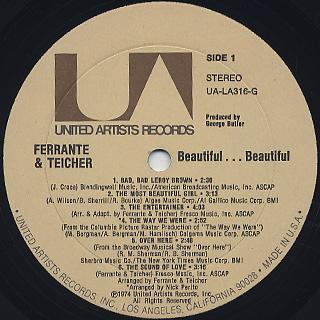 Ferrante & Teicher / ...Beautiful...Beautiful label