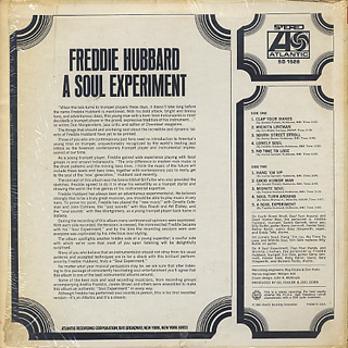 Freddie Hubbard / A Soul Experiment back