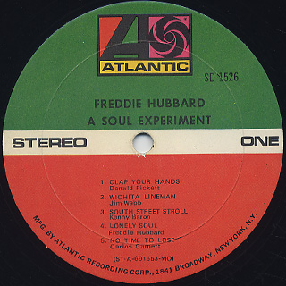 Freddie Hubbard / A Soul Experiment label