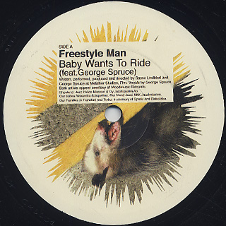 Freestyle Man / Baby Wants To Ride label