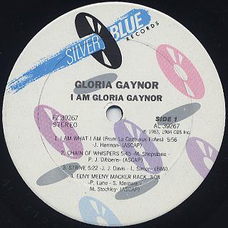 Gloria Gaynor / I Am Gloria Gaynor label