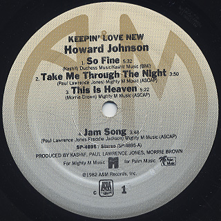 Howard Johnson / Keepin' Love New label