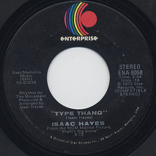 Isaac Hayes / Theme From The Men (Instrumental) back