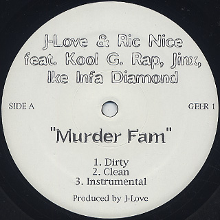 J-Love & Ric Nice / Murder Fam front
