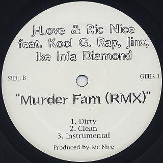 J-Love & Ric Nice / Murder Fam back