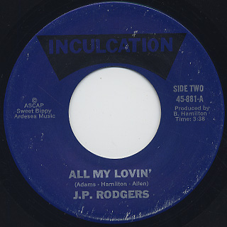 J.P. Rodgers / Won't You Give Me Your Love back