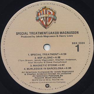 Jakob Magnusson / Special Treatment label