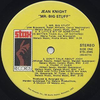Jean Knight / Mr. Big Stuff label