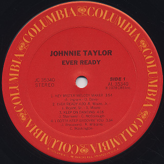 Johnnie Taylor / Ever Ready label