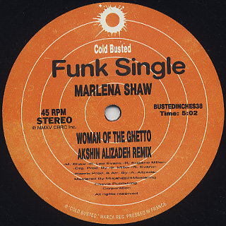 Marlena Shaw / Woman Of The Ghetto (Akshin Alizadeh Remix) back