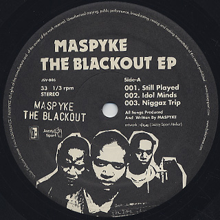 Maspyke / The Blackout EP label