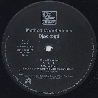Method Man & Redman / Blackout! label