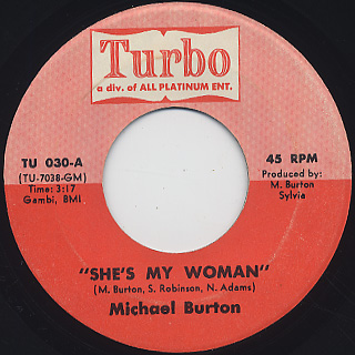 Michael Burton / She's My Woman