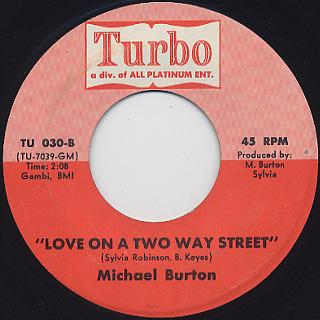 Michael Burton / She's My Woman back