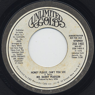 Mr. Danny Pearson / Honey Please, Can't You See back