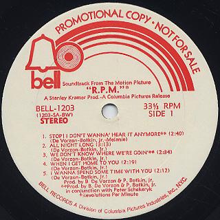 O.S.T.(Barry DeVorzon & Perry Botkin, Jr.) / R.P.M. label