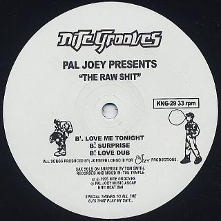 Pal Joey / Raw Shit back