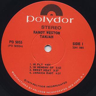 Randy Weston / Tanjah label
