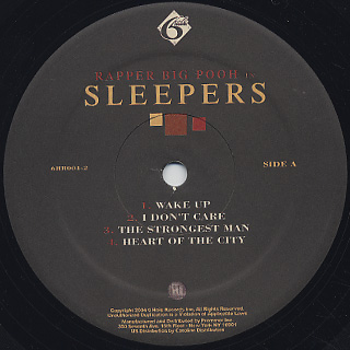 Rapper Big Pooh / In Sleepers label