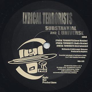 Substantial & L Universe / Lyrical Terrorist label