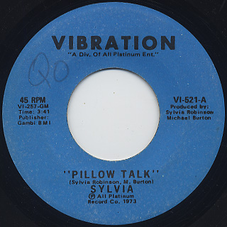 Sylvia / Pillow Talk c/w My Thing front