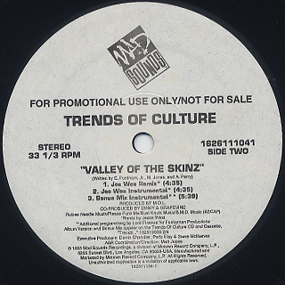 Trends Of Culture / Valley Of The Skinz label